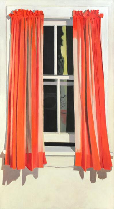 Lois Dodd, 'Night Window - Red Curtain', 1972