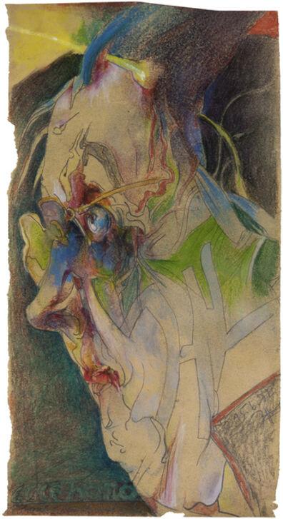 Horst Janssen, 'Selbst zu Paranoia Ecce Homo', 1982
