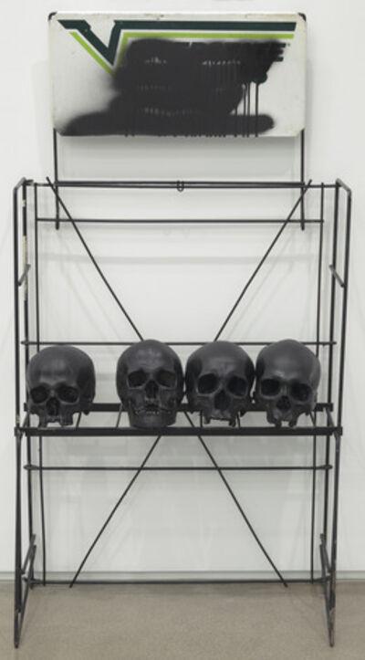 Mark Flood, 'Skull Rack to the West [black]', 2014