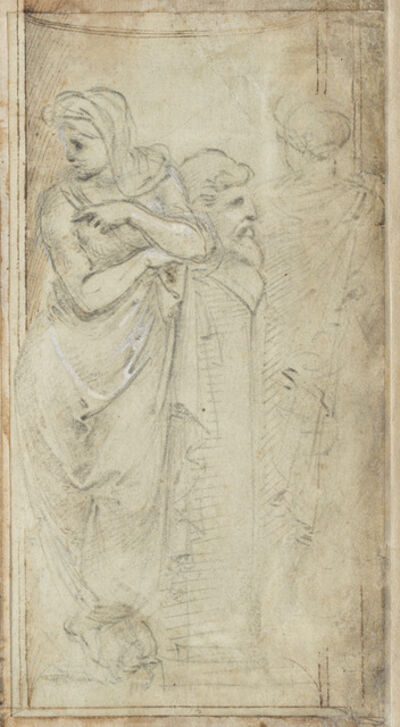 Filippino Lippi, 'Two Draped Women Standing on Either Side of a Herm', 1488/1493
