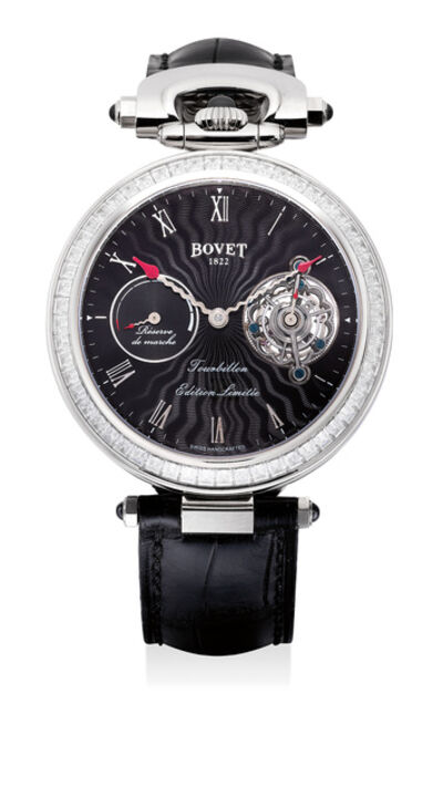 Bovet, 'An impressive and very rare limited edition white gold and diamond-set 7-day tourbillon convertible wristwatch with power reserve, white gold watch chain, certificate of origin and presentation box, numbered 1 of a limited edition of 10 pieces', Circa 2012