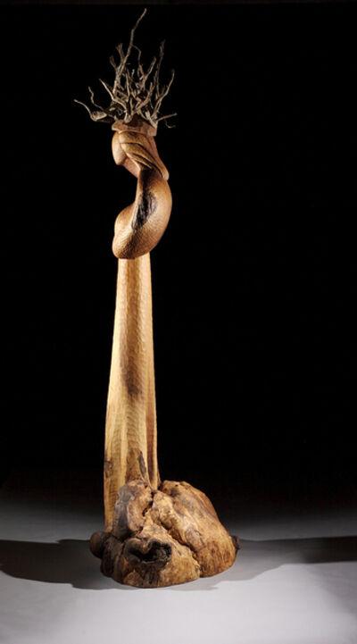 David Hostetler, 'Asherah Tree Root Goddess VIII, wood sculpture', 2006