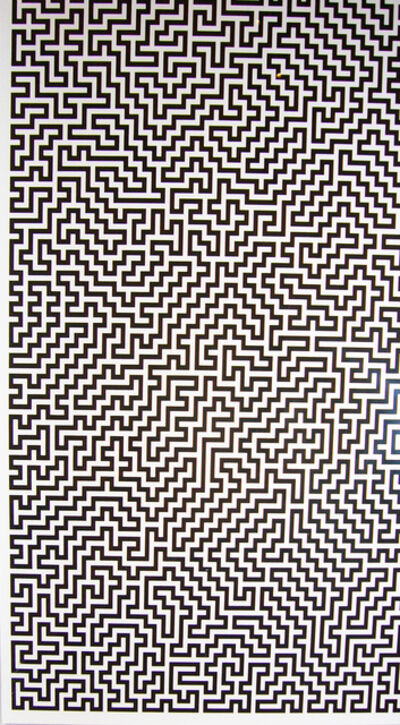 Ignacio Uriarte, 'Single-Line Labyrinths 1', 2007