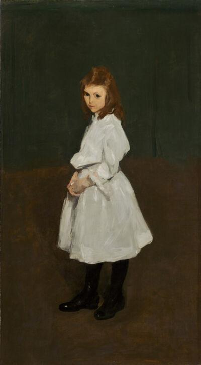 George Wesley Bellows, 'Little Girl in White (Queenie Burnett)', 1907
