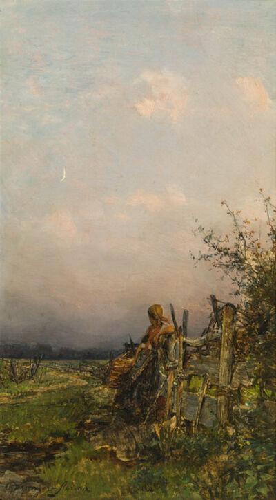Olga Wisinger-Florian, 'At dusk', ca. 1885