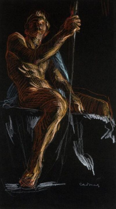 Paul Cadmus, 'Seated Male Nude', ca. 1970