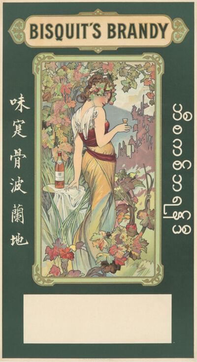 Alphonse Mucha, 'Bisquit's Brandy.', 1899