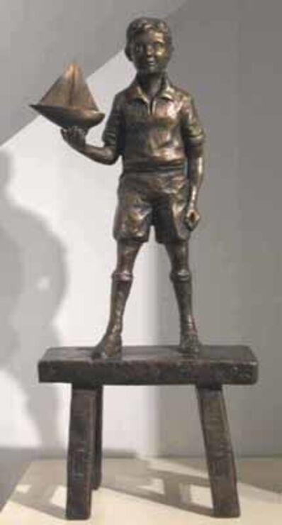 David Bromley, 'Boy with sailboat'