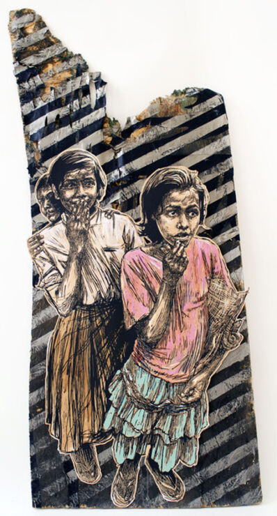 Swoon, 'Sambhavna Girls', 2014