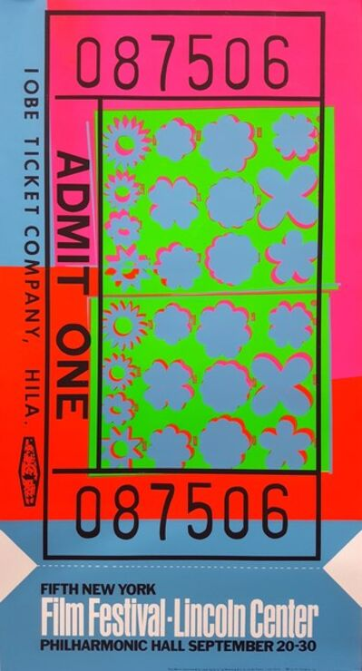 Andy Warhol, 'Lincoln Center Ticket (FS II.19)', 1967