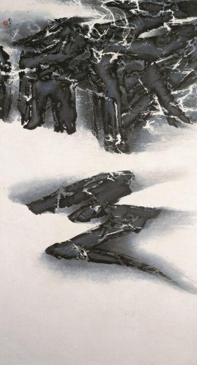 Liu Kuo-sung 刘国松, 'A Trace of Darkness 一抺沈黑', 1964