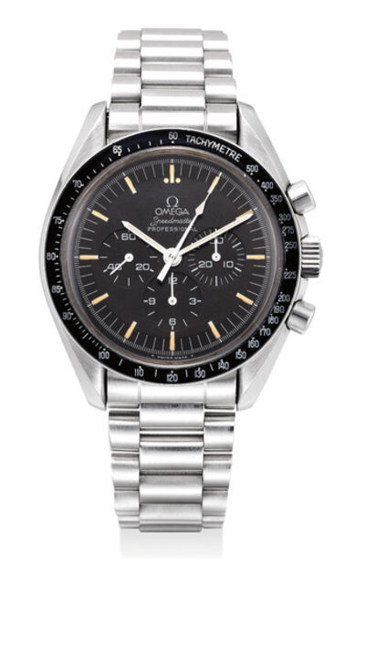 OMEGA, 'A fine stainless steel chronograph wristwatch with tachymeter scale and bracelet, made to commemorate the 20th anniversary of Apollo XI mission', 1989