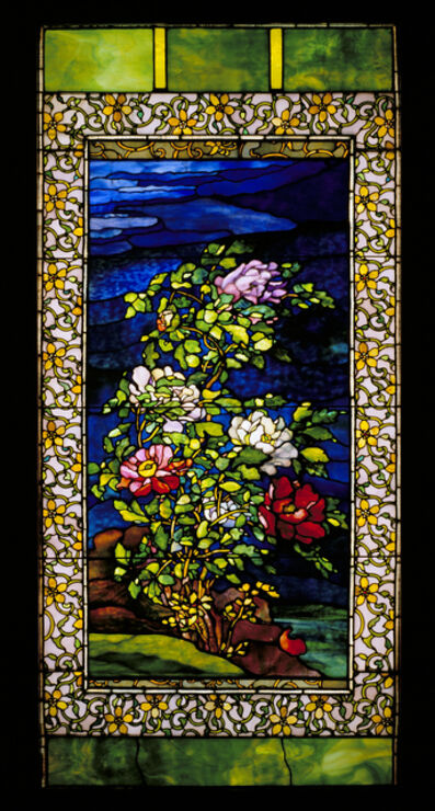John La Farge, 'Window: Peonies in the Wind', ca. 1893