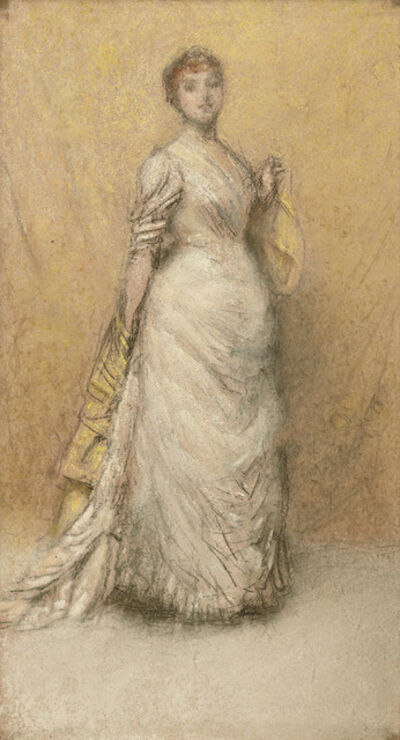 James Abbott McNeill Whistler, 'The Little Note in Yellow and Gold', 1886