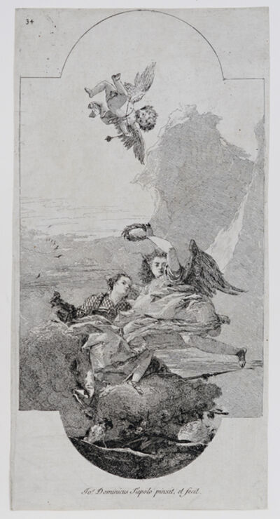 Giovanni Domenico Tiepolo, 'Glory Crowning Virtue', 18th Century