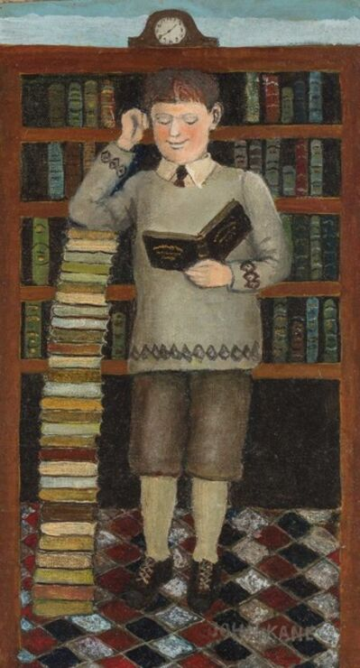 John Kane, 'In a Library'
