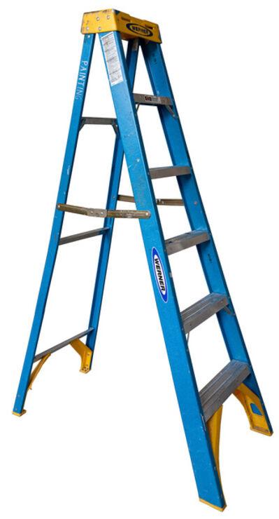 Jennifer Williams, 'Medium Open Folding Ladder: Blue with Yellow Top', 2012