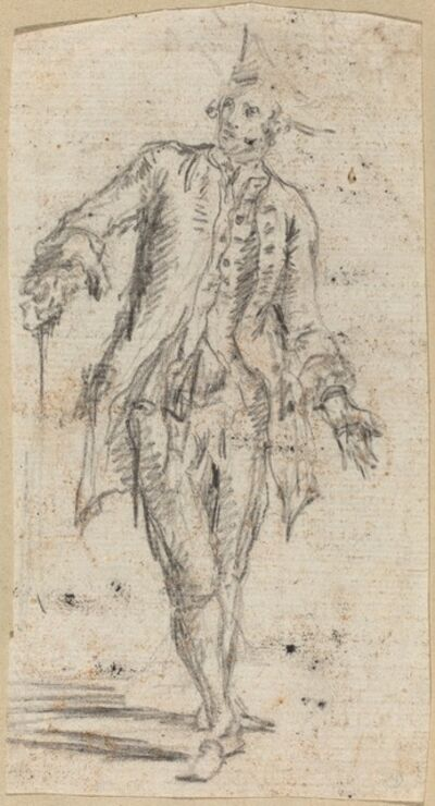 Giovanni Battista Piranesi, 'A Gentleman with a Walking Stick', early 1750s