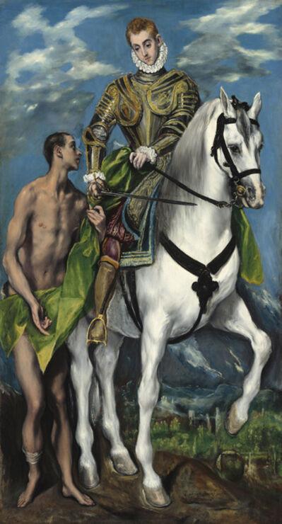 El Greco, 'Der Heilige Martin und der Bettler', 1597 / 1599