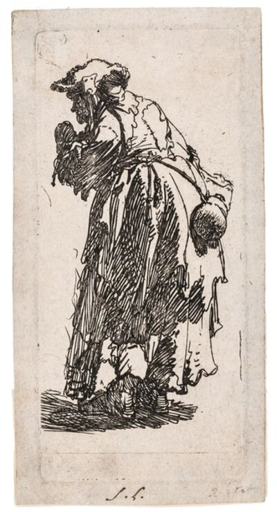 Rembrandt van Rijn, 'Old beggar woman with a gourd', 1629