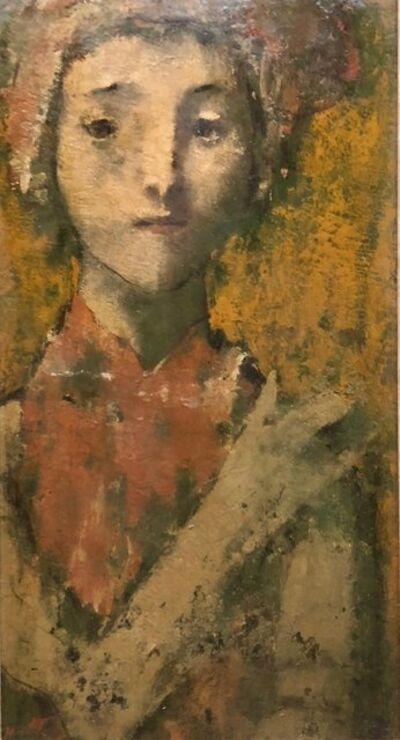 David Aronson, 'Modernist Encaustic Painting Portrait Boston Expressionist', 20th Century