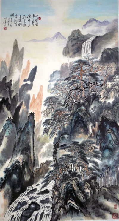 Zhang Yanyun, 'Spring of clouds and green pines 云泉松翠图 ', 2014