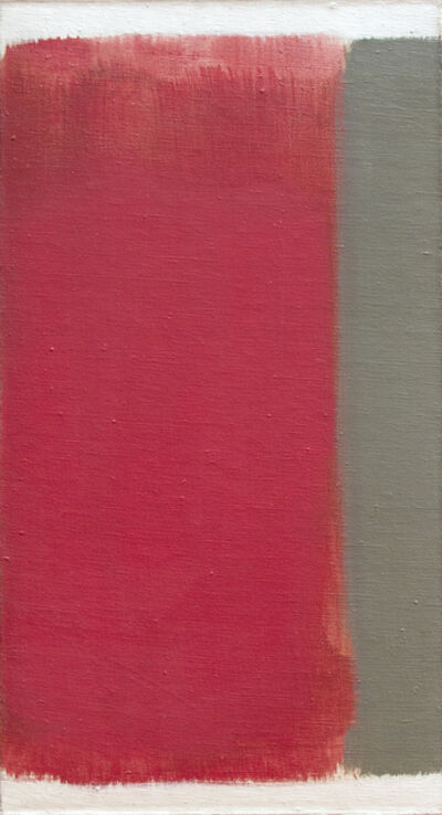 Carl Holty, 'Red with Gray Bar', 1963