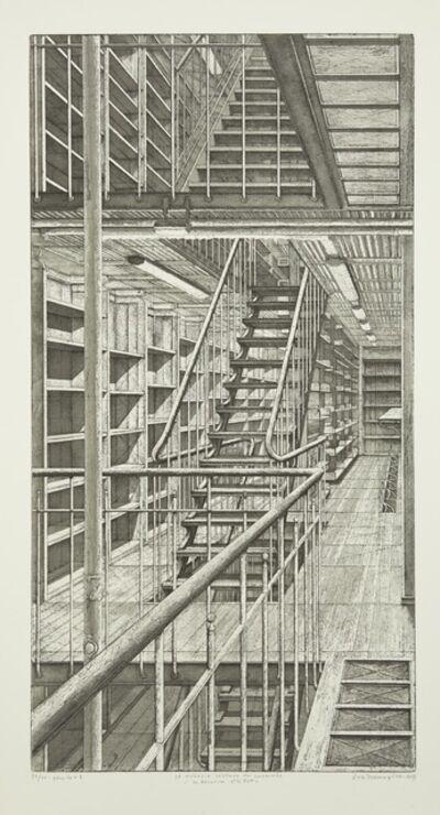 Erik Desmazières, 'Les Escaliers côté est, from Le Magasin central des imprimés', 2013