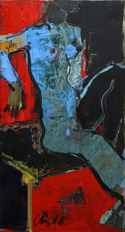 Serhiy Hai, 'Seated Figure, (Red, Black, & Blue)', 2015