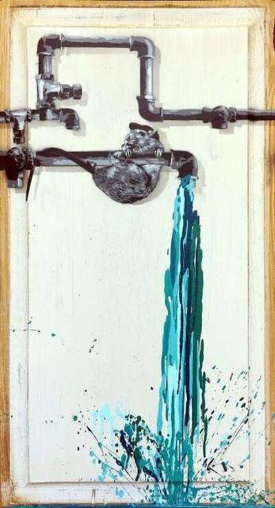 Hama Woods, 'Pipe Leak (Turquoise)', 2018
