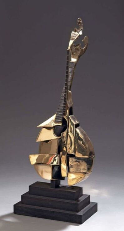 "Arman, 'Bronze Sculpture ""Portuguese Guitar"" by Arman', 2004"