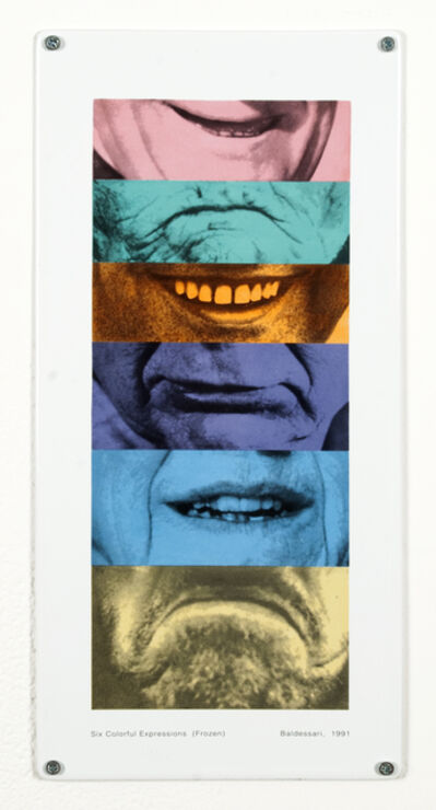 John Baldessari, 'Six Colorful Expressions (Frozen)', 1991