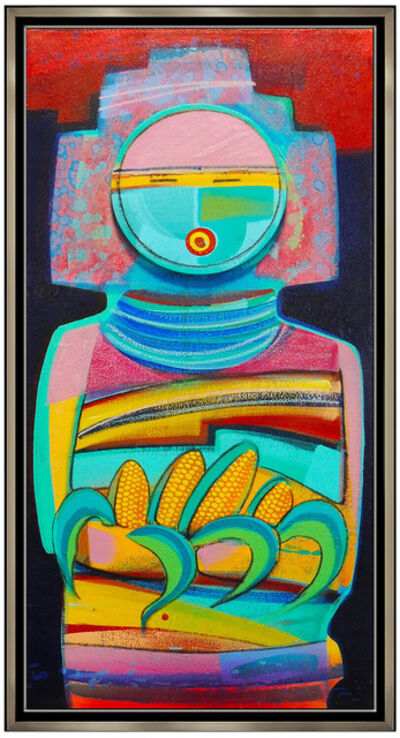 Tony Abeyta, 'Tony Abeyta Acrylic Painting On Canvas Large Signed Kachina Native American Art', 20th Century
