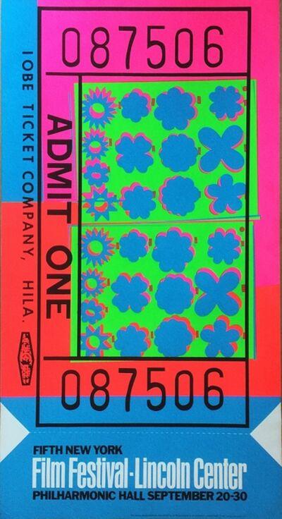Andy Warhol, 'Lincoln Center Film Festival Ticket (Feldman & Schellmann II.19)', 1967
