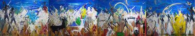 Khaled Hafez, 'Il était une fois - Giant canvas.', 2019
