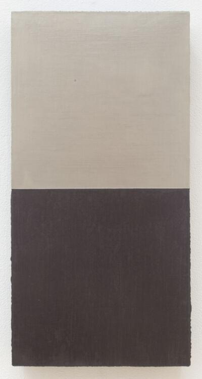 David Simpson, 'Silver/Gold & Graphite over Grey-Green', 1987