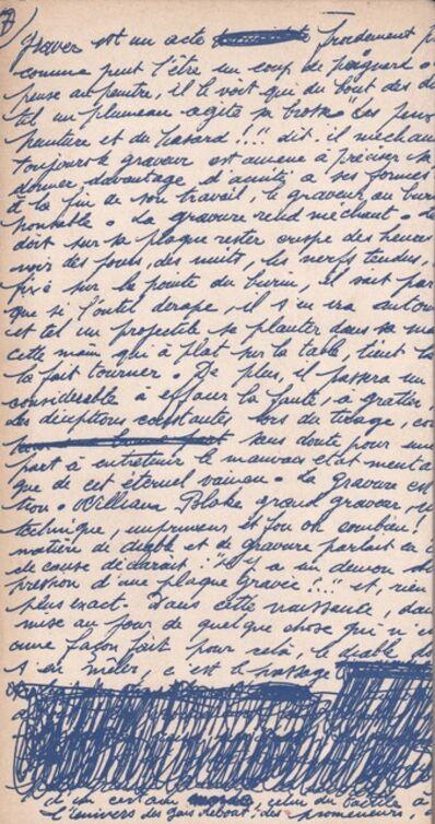 Pierre Louis Maurice Courtin, 'Lamentation du graveur', 1962