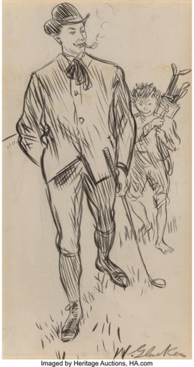 William James Glackens, 'The Serio-comic Governess, Collier's Weekly interior illustration', circa 1902