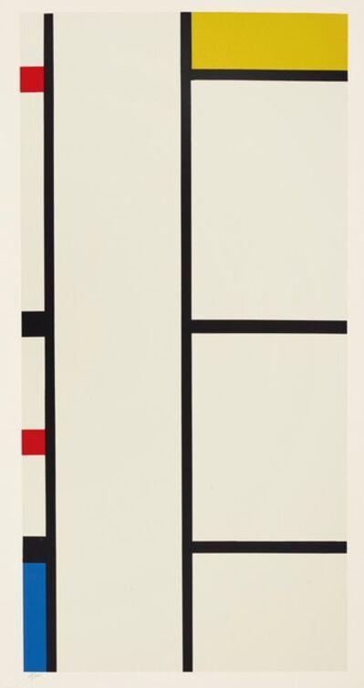 Piet Mondrian, 'Vertical Composition. 1935-42.', 1957