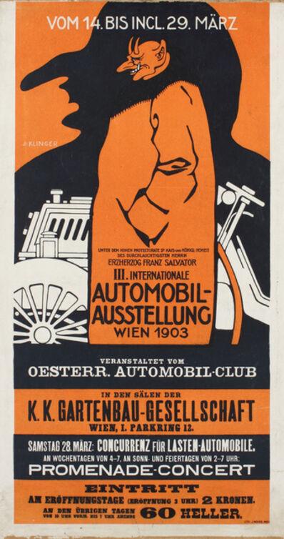 Julius Klinger, 'Poster for the Third International Automobile Exhibition, Berlin', 1903