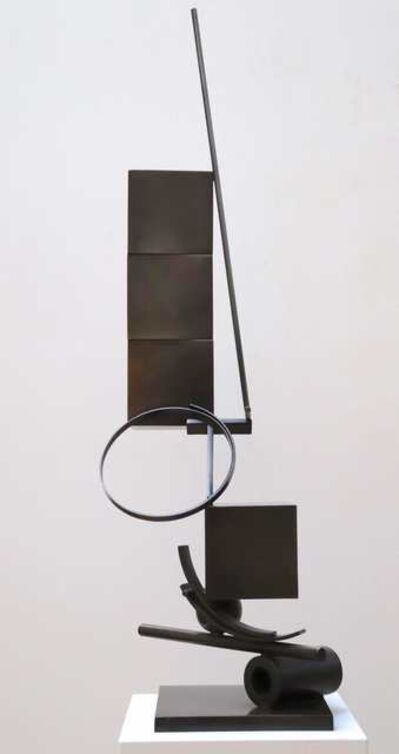 Fletcher Benton, 'Blocks on Blocks: Three on One, T and Ring', 2006