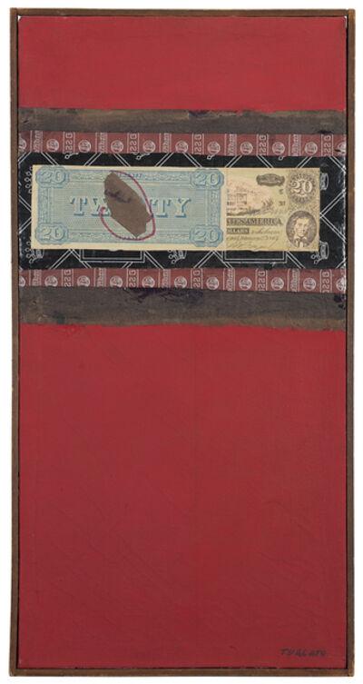 Giulio Turcato, 'Composizione con dollaro', 1962