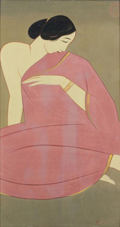 Jamini Roy, 'Lady in Pink Saree'