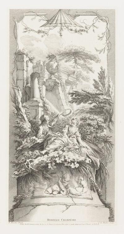 François Boucher, 'Hommage Champètre (Pastorale) in Nouveaux Morceaux pour des Paravents [New Concepts for Screens]', 1740