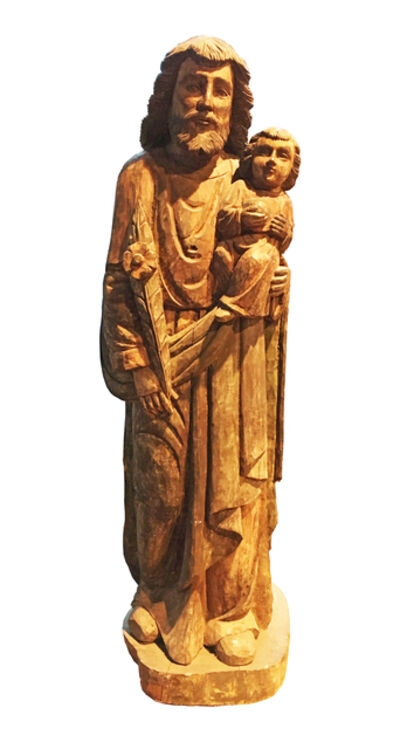 Anonymous, 'Ancient Statue of Saint Joseph with Child', 19th century