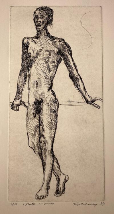 Rainer Fetting, 'Figure 2 (Standing f.), 1 St. 5/10 s/w', 1989