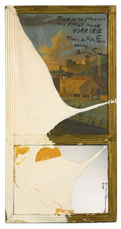 Julian Schnabel, 'There Is No Place on This Planet More Horrible Than a Fox Farm During Pelting Season', 1989