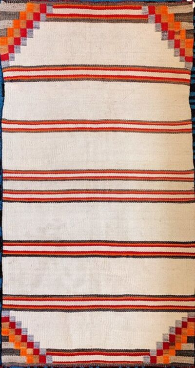 Navajo artist, 'Navajo double saddle blanket', ca. 1940