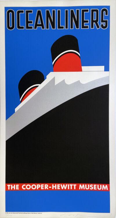 John Van Hamersveld, 'Oceanliners, The Cooper-Hewitt Museum', 1980