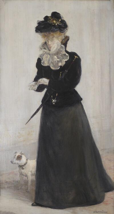 Jean François  Raffaëlli, 'Portrait d'une Élegante', ca. 1889